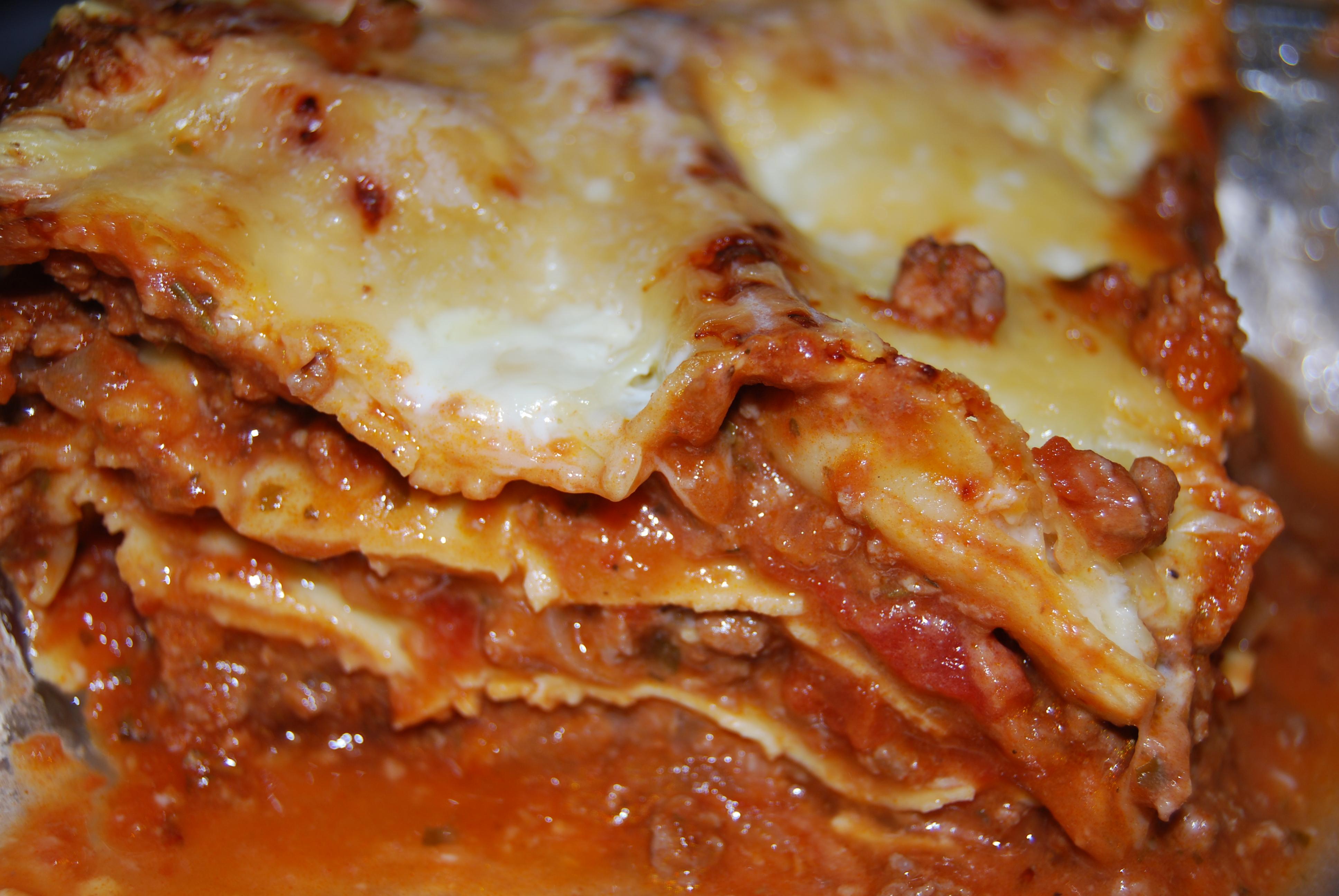 Lasagnes simples et rapides la cuisine des d lices de - Lasagne facile et rapide ...