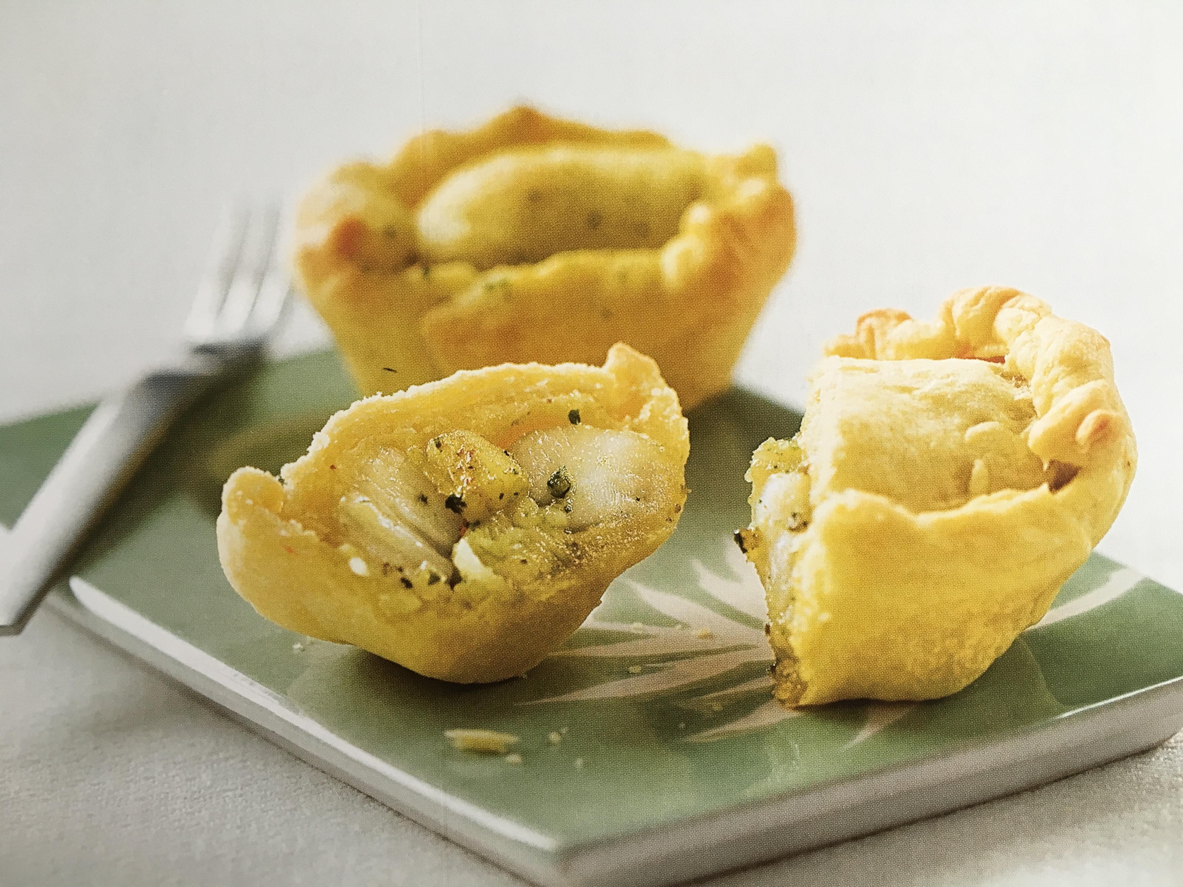Tourtes aux noix de Saint-Jacques et beurre persillé