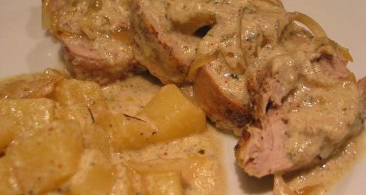 Filet mignon au cidre et aux pommes