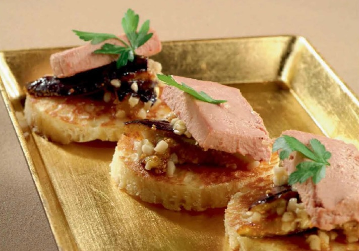 blinis figue foie gras